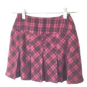 American Girl Pink Plaid Skirt Size 8